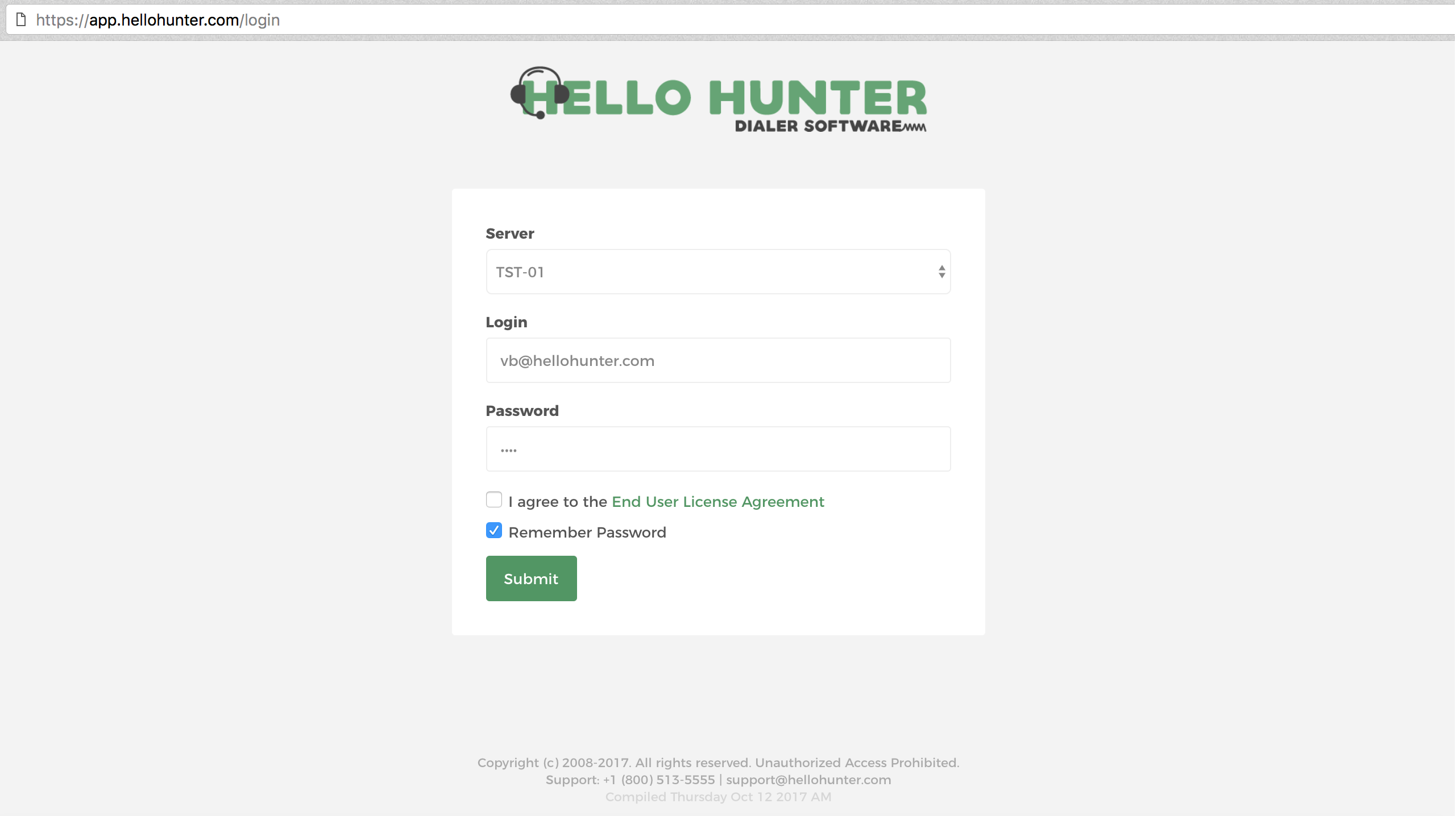 I cannot log into my system — HelloHunter'